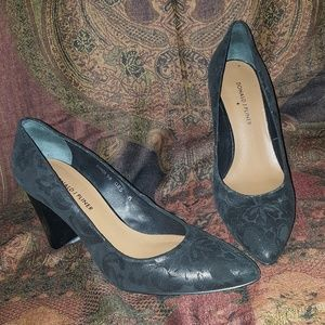 Donald J Pliner Embossed Floral Suede Pumps 8.5